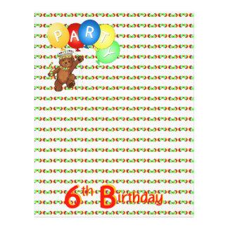 6thBirthday Party Royal Bear Scrapbook  Paper 3 21.5 Cm X 28 Cm Flyer