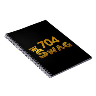704 Area Code Swag Notebook