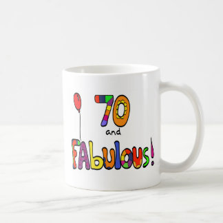 70 and Fabulous 70th Birthday Coffee Mug