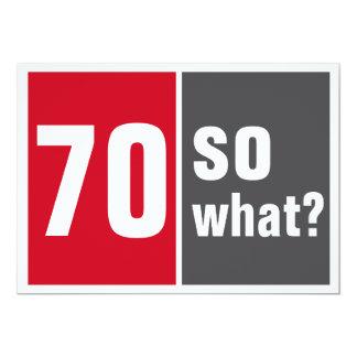 70 birthday invitation
