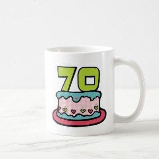 70 Year Old Birthday Cake Coffee Mug