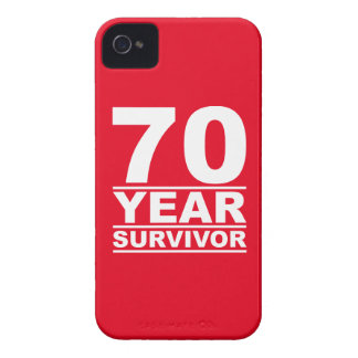 70 year survivor iPhone 4 Case-Mate case
