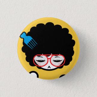70's Afro Nina 3 Cm Round Badge