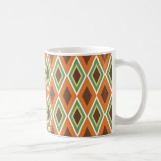 70's Vibe Avocado Green Burnt Orange Harvest Gold Coffee Mug