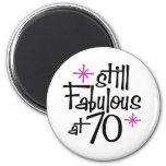 70th Birthday 6 Cm Round Magnet