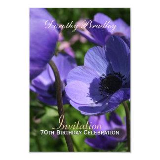 70th Birthday Celebration Anemone Custom Invite