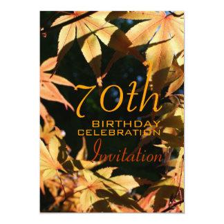 70th Birthday Celebration Autumn Custom Invitation