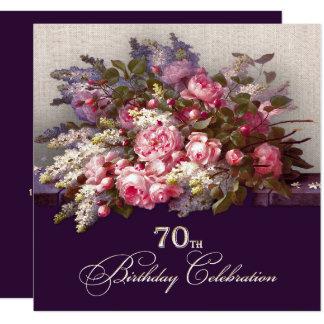 70th Birthday Celebration Custom Invitations
