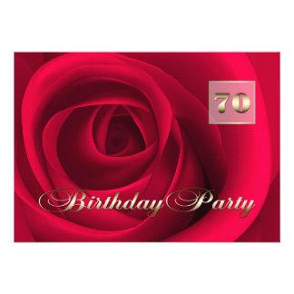 70th Birthday Celebration Custom Invitations Invitation
