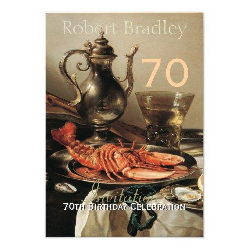 70th Birthday Celebration Customizable Invitation