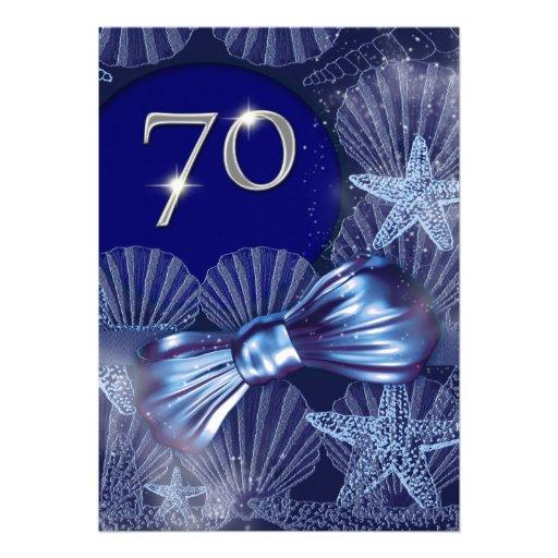 70th birthday celebration party major CUSTOMIZE Personalized Invites