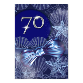 "70th birthday celebration party major CUSTOMIZE 5"" X 7"" Invitation Card"