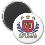 70th Birthday Fridge Magnet