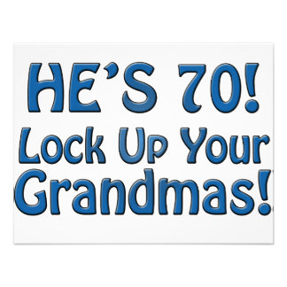 70th Birthday Personalized Announcements