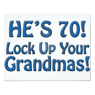 70th Birthday 11 Cm X 14 Cm Invitation Card