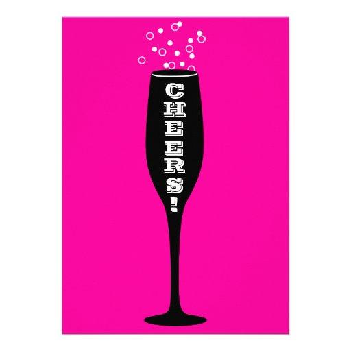 70th Birthday Invitation - Hot Mama Cheers!