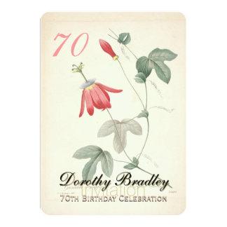 70th Birthday Party - Botanical Custom Invitation