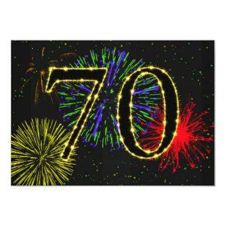 """70th birthday party invitate 5"""" x 7"""" invitation card"""