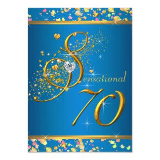 "70th Birthday Party 4.5"" X 6.25"" Invitation Card"
