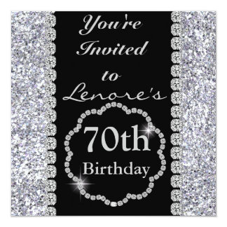 70th Birthday Party Invitation