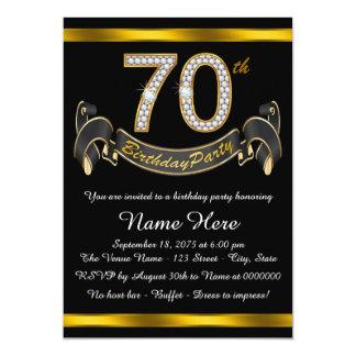 "70th Birthday Party 5"" X 7"" Invitation Card"