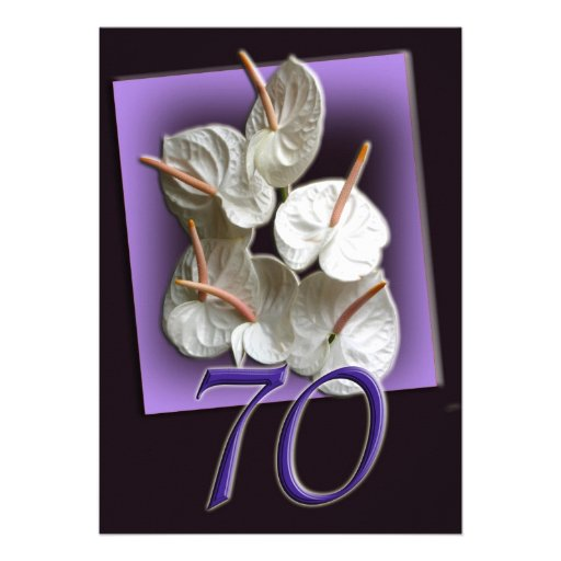 70th Birthday Party Invitation - Antheriums