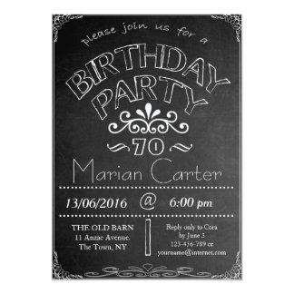 70th Chalkboard Birthday Celebration Invitation