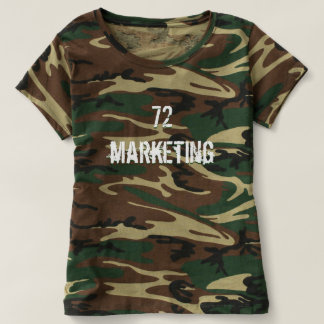 72marketing Camo Shirt Logo Ladies Hunting Army