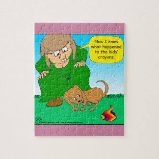 740 colorful puppy poop cartoon jigsaw puzzle