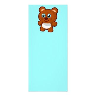 7414-little-bear-toy-vector  LITTLE BROWN TEDDYBEA Rack Card Template