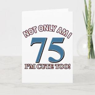 75 Years Old Birthday Designs Card