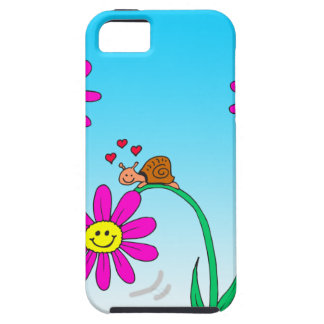 763 romantic snail with flower iPhone 5 cover
