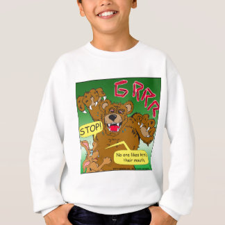 766 no hare in mouth sweatshirt