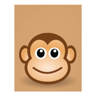 76-Free-Cute-Cartoon-Monkey-Clipart-Illustration Custom Flyer