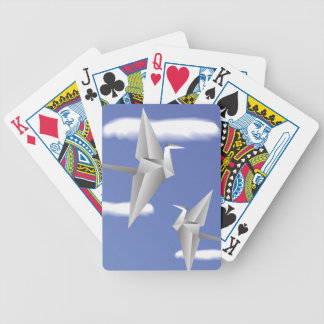 78Paper Birds _rasterized Bicycle Playing Cards