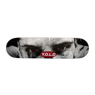 """7 3/8"""" Yolo Zombie Skateboard deck design"""