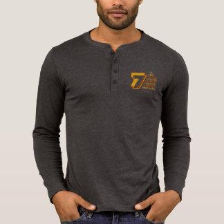 7 Heavenly Virtues Men's Canvas Henley Long Sleeve T Shirt