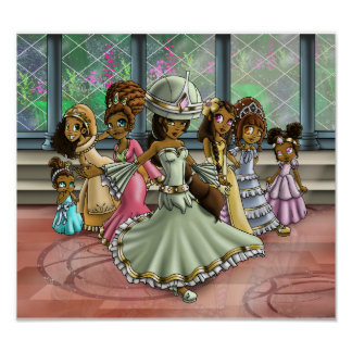 """""""7 Princesses"""" Poster"""