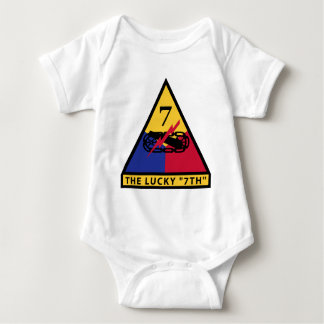 "7th Armored Division - THE LUCKY ""7TH"" Baby Bodysuit"