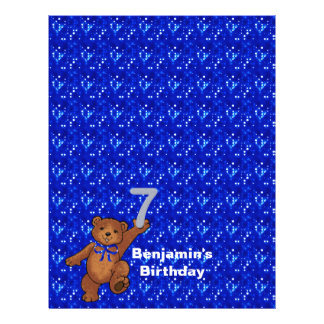 7th Birthday Dancing Bear Scrapbook Paper 3 21.5 Cm X 28 Cm Flyer