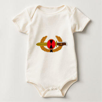 7th Infantry Division - Order of the Bayonet Baby Bodysuit