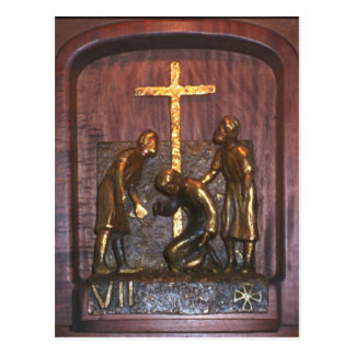 7th Station of the Cross Postcard