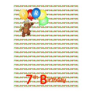 7thBirthday Party Royal Bear Scrapbook  Paper 3 21.5 Cm X 28 Cm Flyer