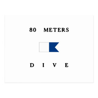 80 Meters Alpha Dive Flag Postcard