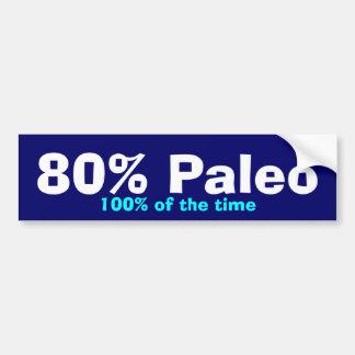 80% Paleo Bumper Bumper Sticker