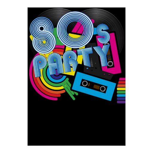 80 Retro Party Poster
