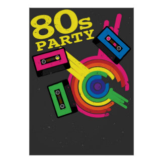80s party posters