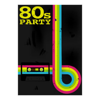 80s party print