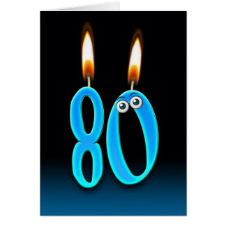 80th Birthday Candles Card