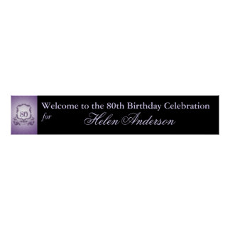 80th Birthday Custom Banner Poster 60x11